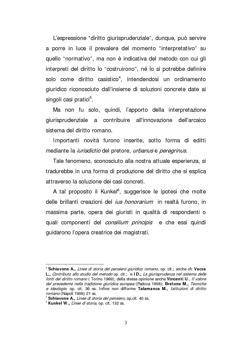 Anteprima della tesi: L'elaborazione casistica del diritto: esperienza romana ed anglosassone, Pagina 3