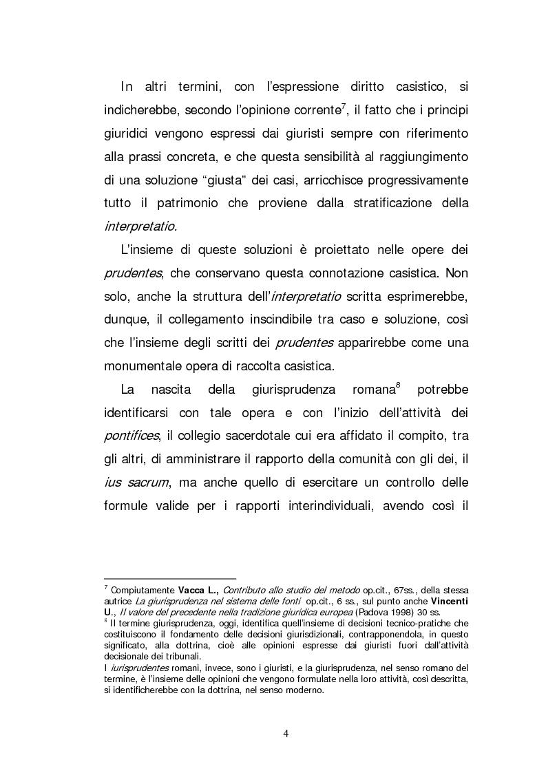 Anteprima della tesi: L'elaborazione casistica del diritto: esperienza romana ed anglosassone, Pagina 4