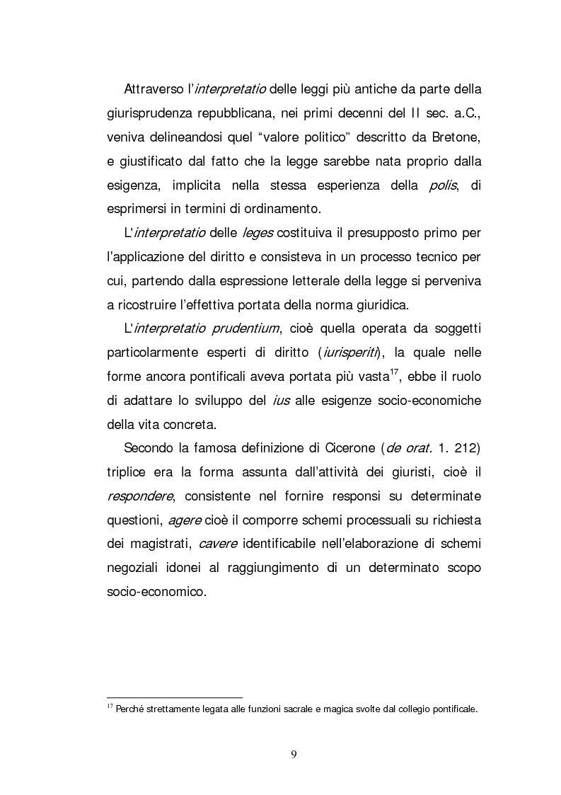 Anteprima della tesi: L'elaborazione casistica del diritto: esperienza romana ed anglosassone, Pagina 9