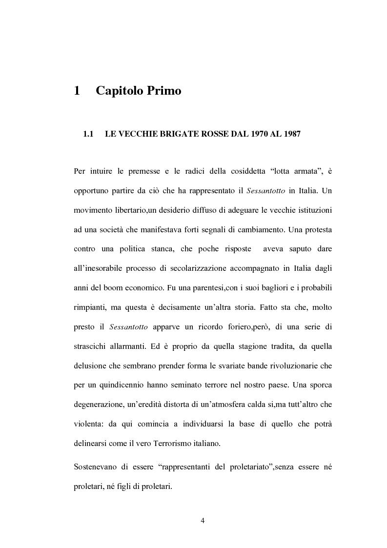 Anteprima della tesi: Un Passato che non passa: le Nuove Brigate Rosse, Pagina 1