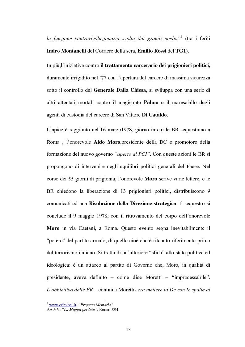 Anteprima della tesi: Un Passato che non passa: le Nuove Brigate Rosse, Pagina 10