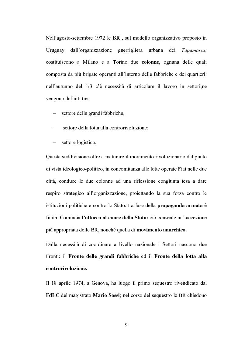 Anteprima della tesi: Un Passato che non passa: le Nuove Brigate Rosse, Pagina 6