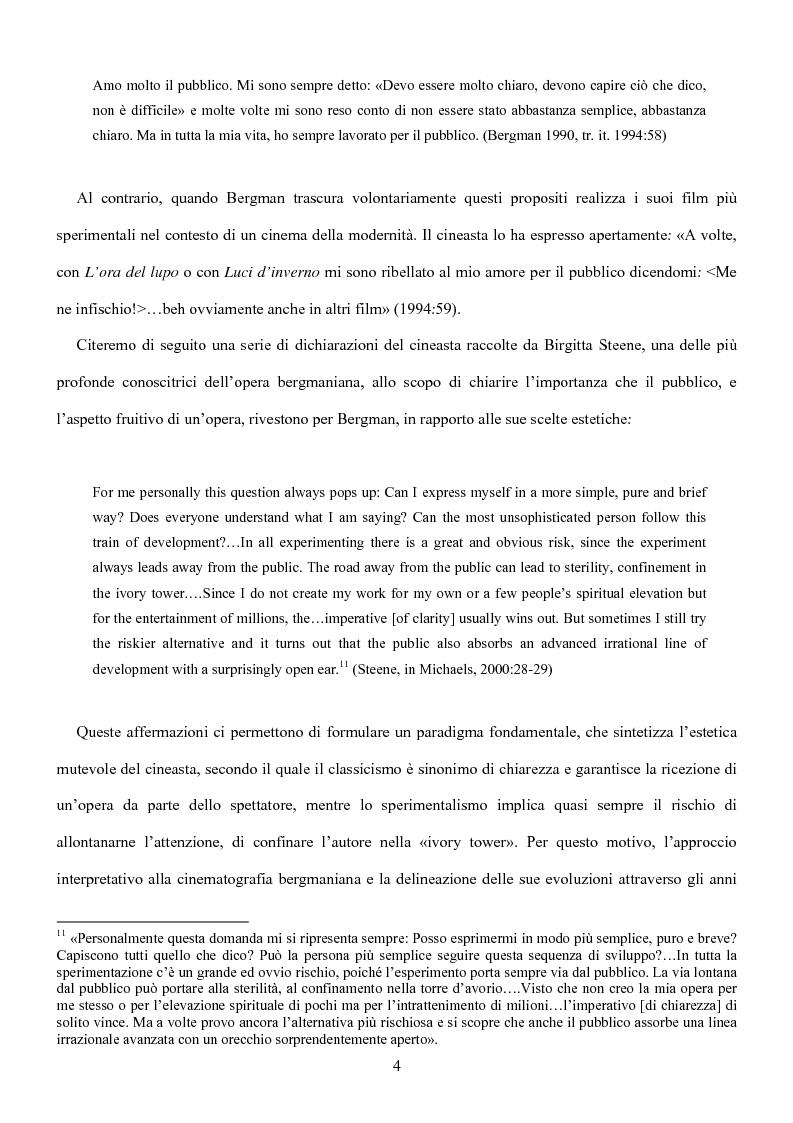 Anteprima della tesi: Influenze della modernità nel cinema di Woody Allen: l'eredità di Ingmar Bergman, Pagina 10
