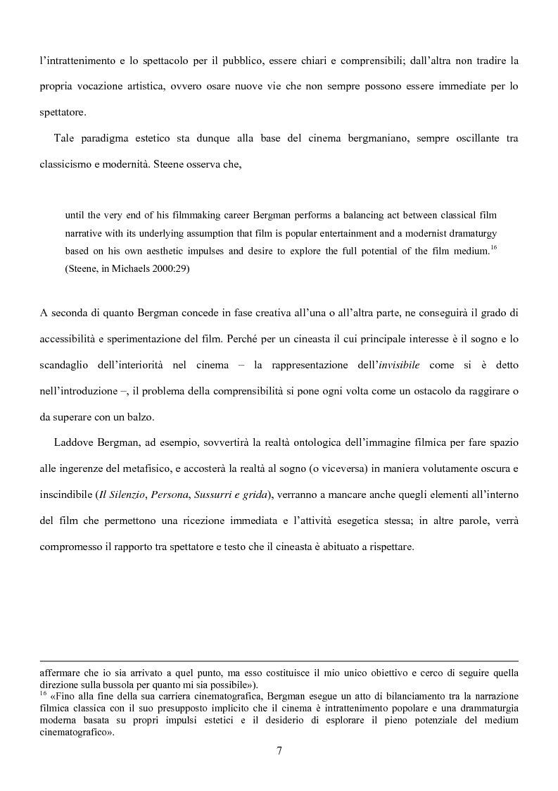 Anteprima della tesi: Influenze della modernità nel cinema di Woody Allen: l'eredità di Ingmar Bergman, Pagina 13