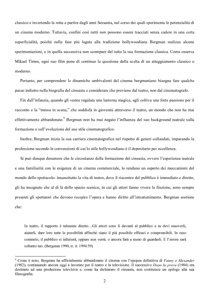 Anteprima della tesi: Influenze della modernità nel cinema di Woody Allen: l'eredità di Ingmar Bergman, Pagina 8