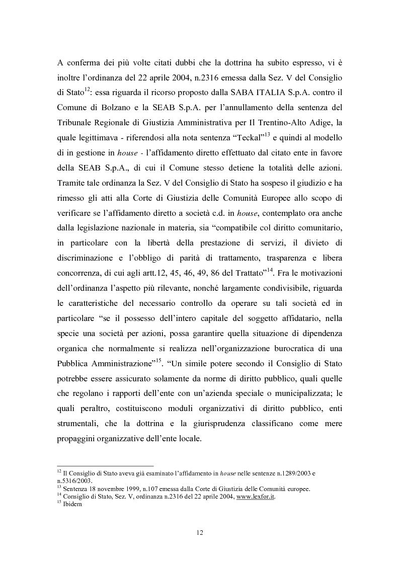 Anteprima della tesi: Le politiche di liberalizzazione e privatizzazione dei servizi pubblici locali. Il caso della Regione Marche., Pagina 12