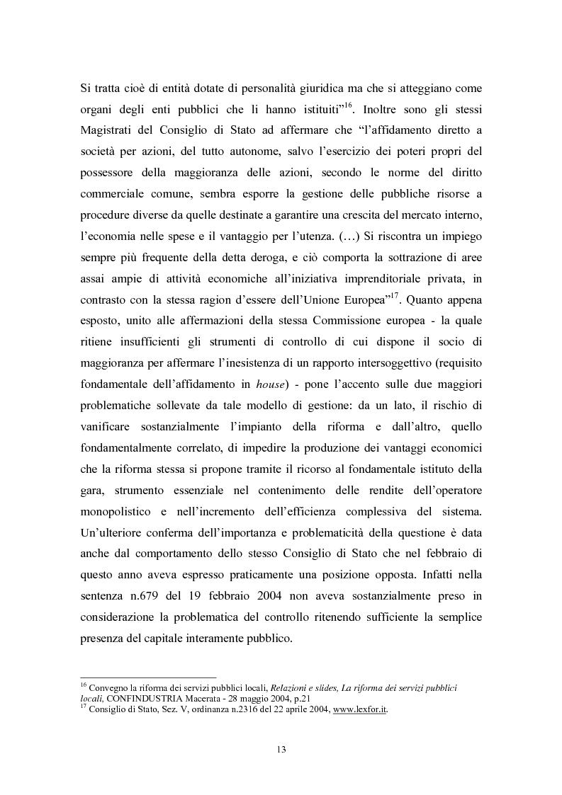 Anteprima della tesi: Le politiche di liberalizzazione e privatizzazione dei servizi pubblici locali. Il caso della Regione Marche., Pagina 13
