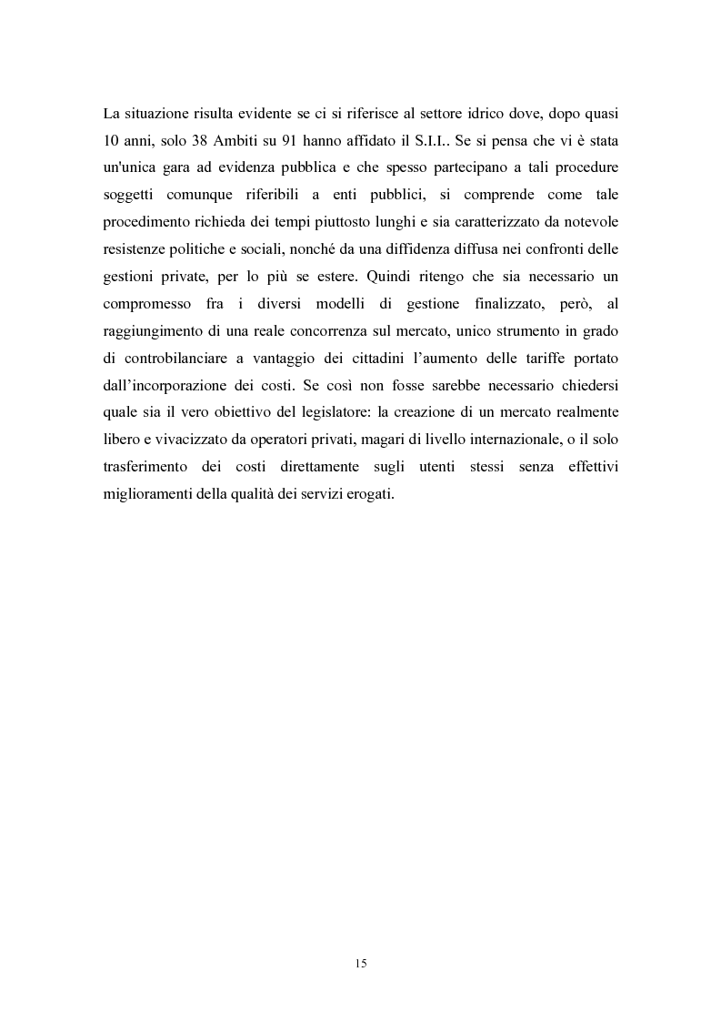 Anteprima della tesi: Le politiche di liberalizzazione e privatizzazione dei servizi pubblici locali. Il caso della Regione Marche., Pagina 15