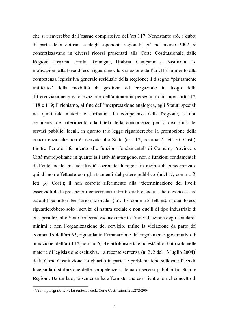 Anteprima della tesi: Le politiche di liberalizzazione e privatizzazione dei servizi pubblici locali. Il caso della Regione Marche., Pagina 4