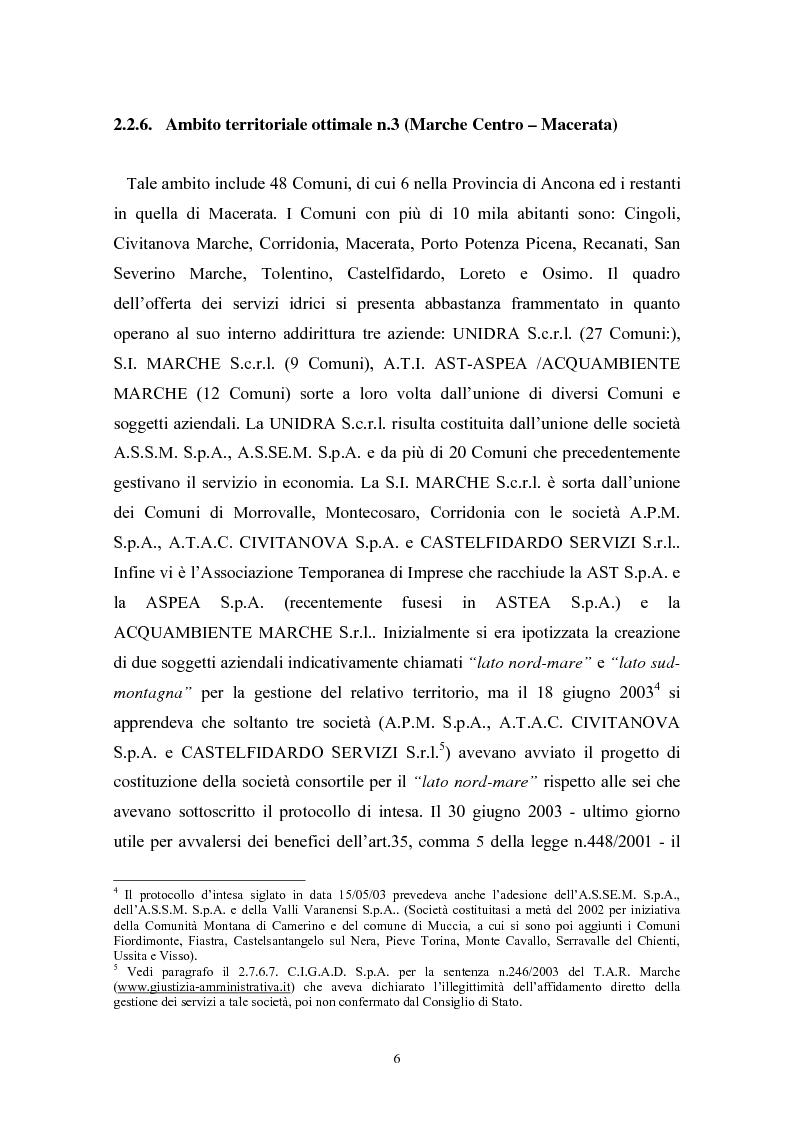 Anteprima della tesi: Le politiche di liberalizzazione e privatizzazione dei servizi pubblici locali. Il caso della Regione Marche., Pagina 6