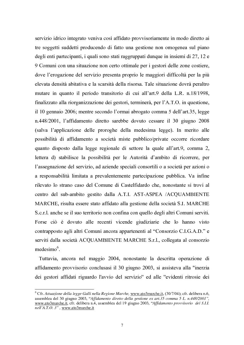 Anteprima della tesi: Le politiche di liberalizzazione e privatizzazione dei servizi pubblici locali. Il caso della Regione Marche., Pagina 7