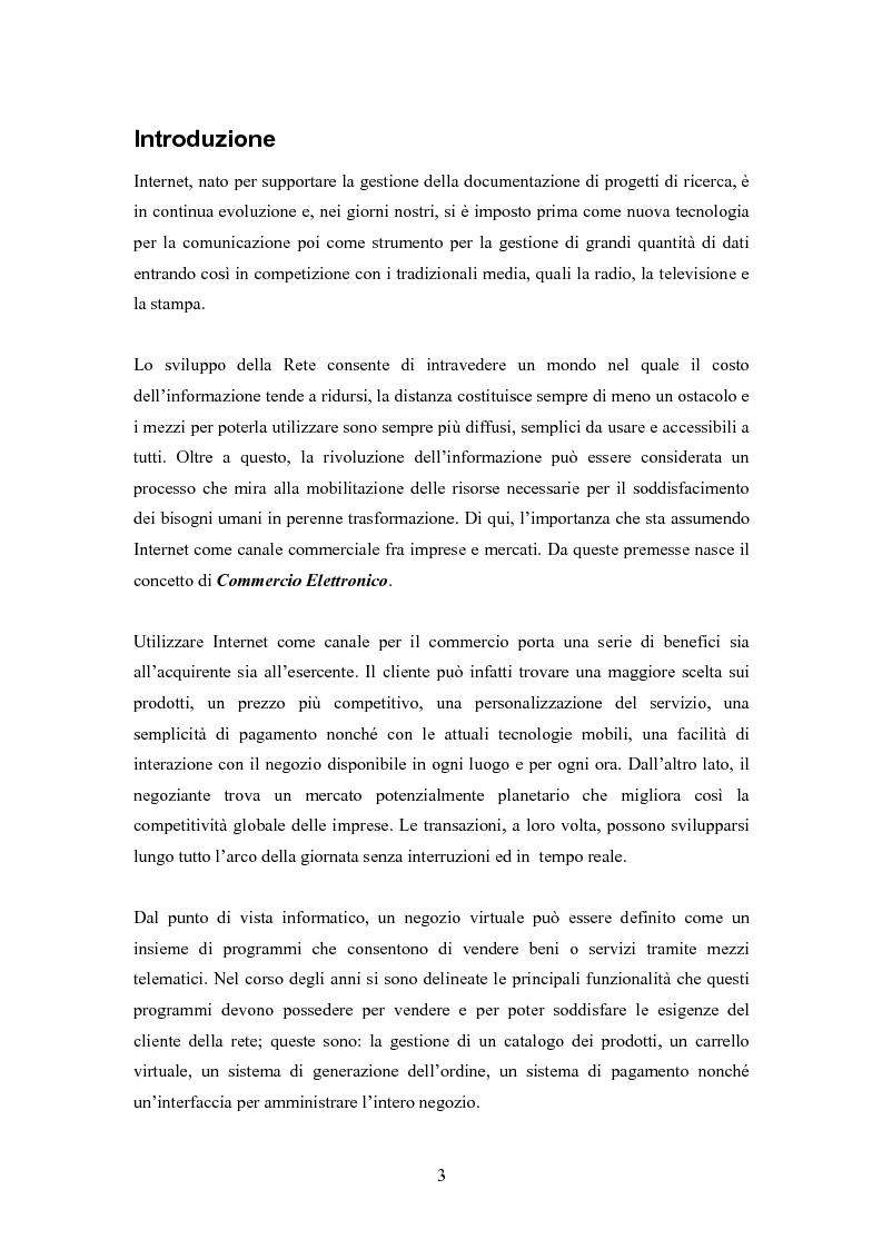 Anteprima della tesi: Sistema Software Personalizzabile e Multicanale per il Commercio Elettronico, Pagina 1