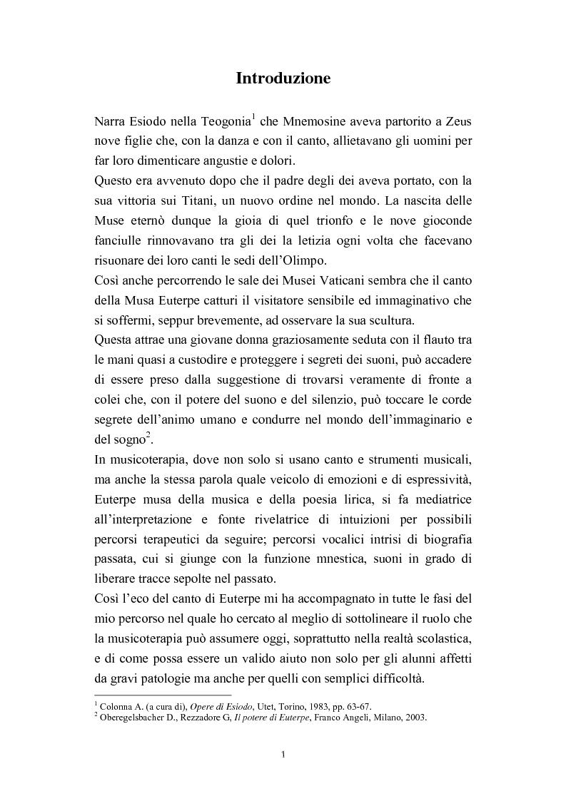 Anteprima della tesi: Progetti didattico-educativi al suono in alcune scuole elementari dell'Emilia Romagna, Pagina 3