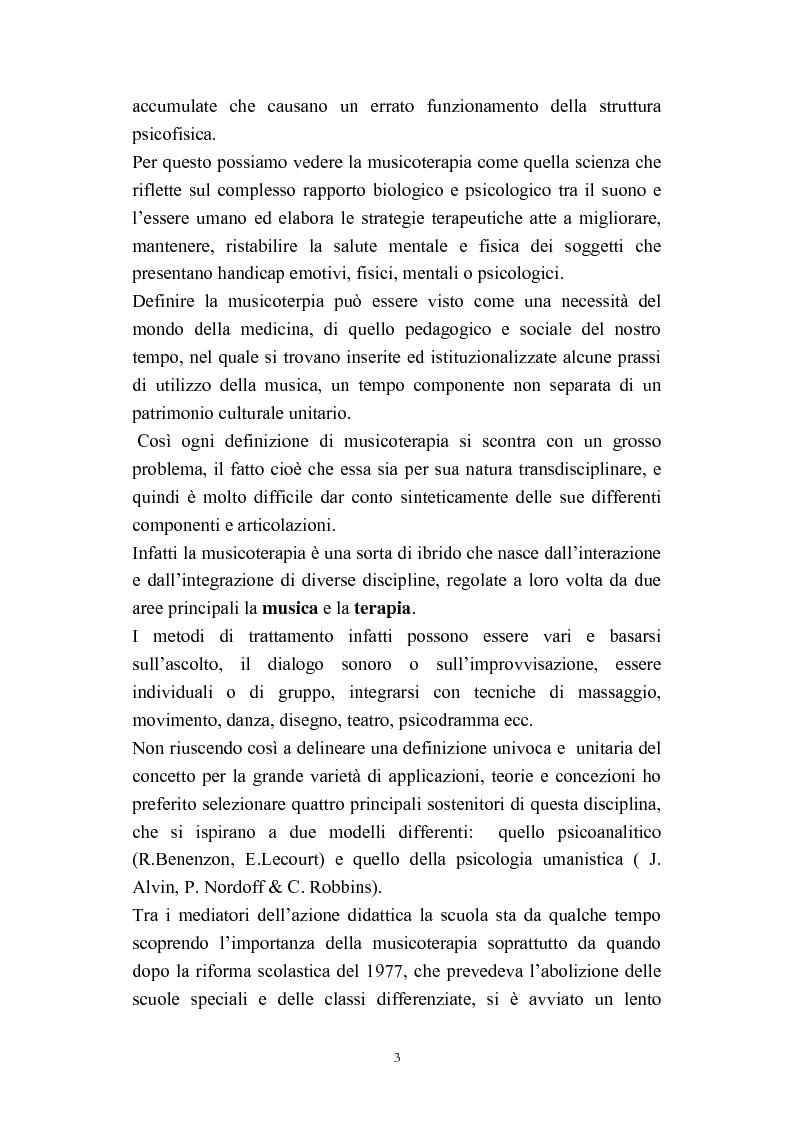 Anteprima della tesi: Progetti didattico-educativi al suono in alcune scuole elementari dell'Emilia Romagna, Pagina 5