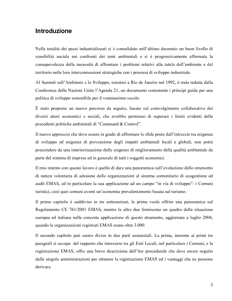 Il Regolamento Emas II e la certificazione ambientale territoriale applicata al turismo: Il Polo Turistico di Bibione &#...