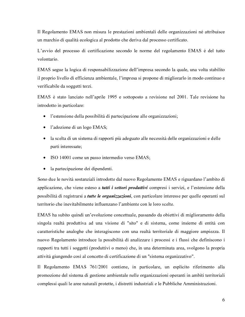 Anteprima della tesi: Il Regolamento Emas II e la certificazione ambientale territoriale applicata al turismo: Il Polo Turistico di Bibione – San Michele al Tagliamento, Pagina 4