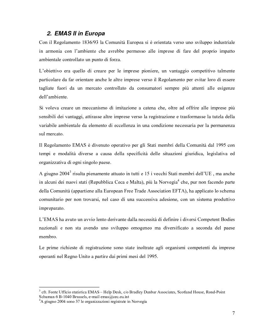 Anteprima della tesi: Il Regolamento Emas II e la certificazione ambientale territoriale applicata al turismo: Il Polo Turistico di Bibione – San Michele al Tagliamento, Pagina 5