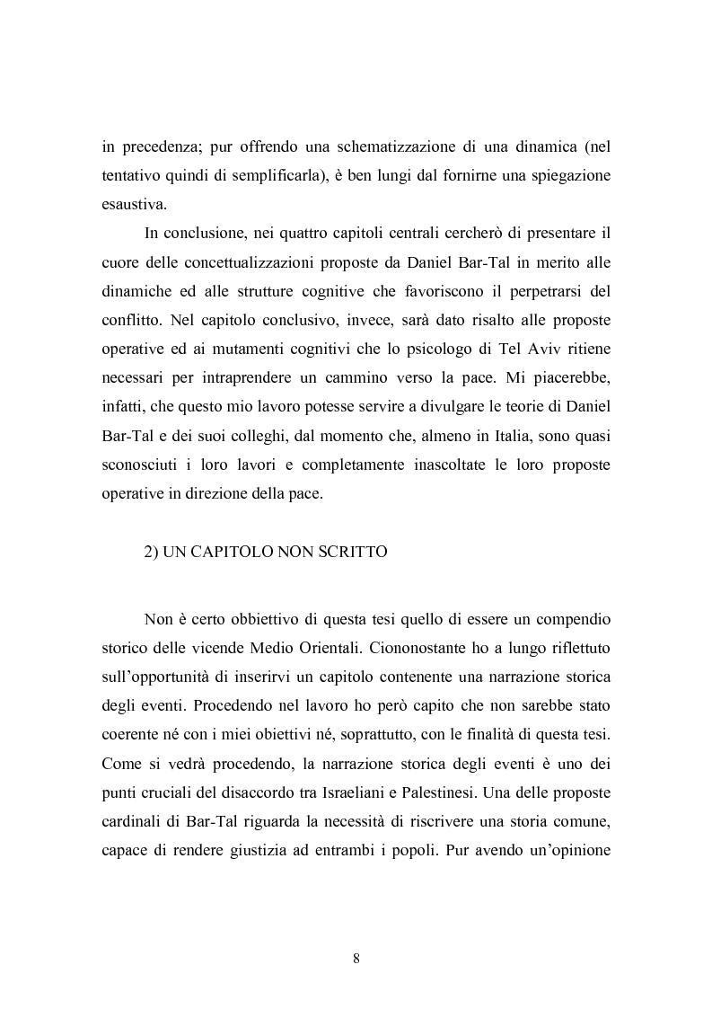 Anteprima della tesi: Il conflitto Israelo-Palestinese: la prospettiva psicologica di Daniel Bar-Tal, Pagina 8