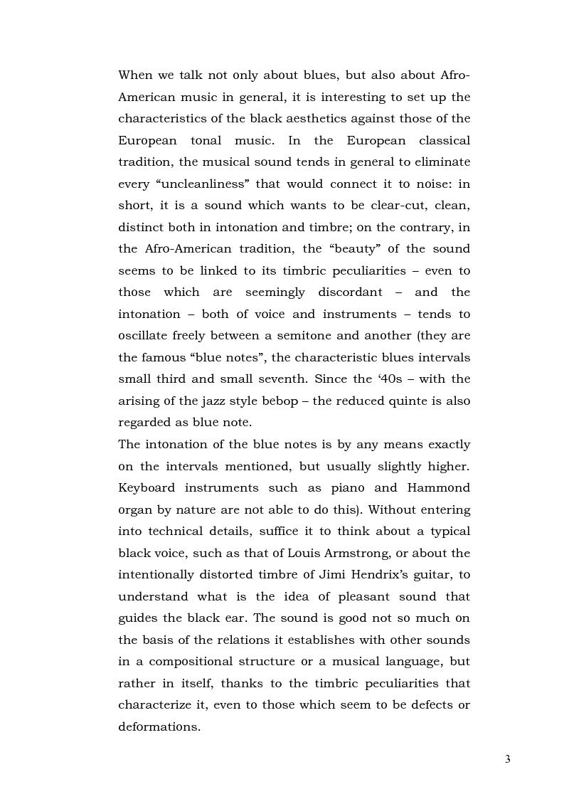 Anteprima della tesi: The Blues Tree - l'Albero del Blues, Pagina 3