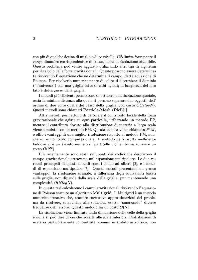 Anteprima della tesi: Un codice multigrid con griglia adattiva per il calcolo di campi gravitazionali, Pagina 2