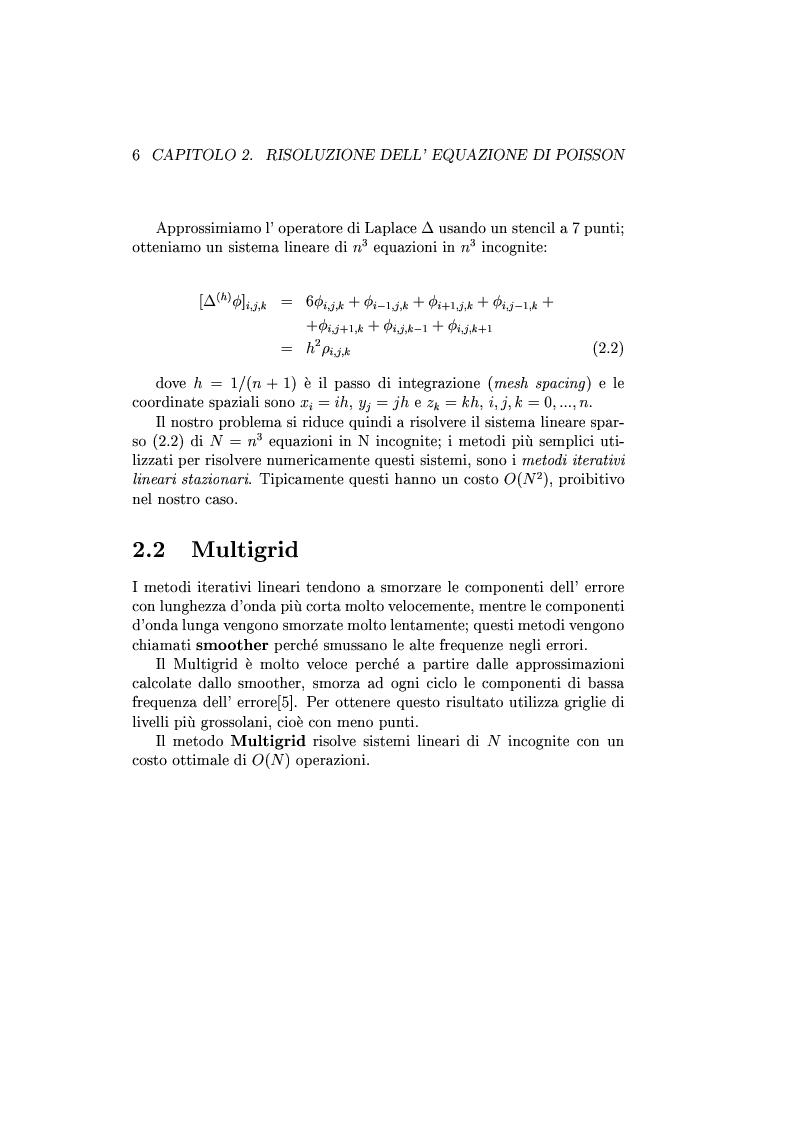 Anteprima della tesi: Un codice multigrid con griglia adattiva per il calcolo di campi gravitazionali, Pagina 5