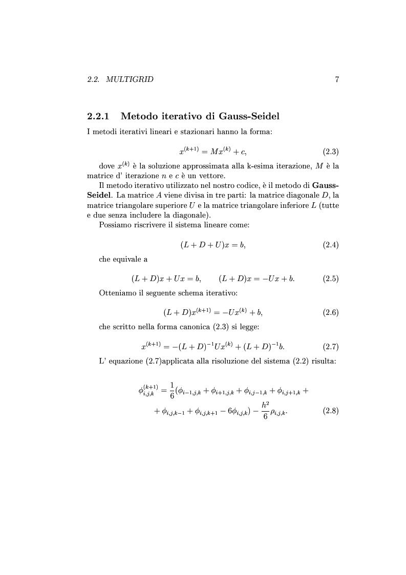 Anteprima della tesi: Un codice multigrid con griglia adattiva per il calcolo di campi gravitazionali, Pagina 6