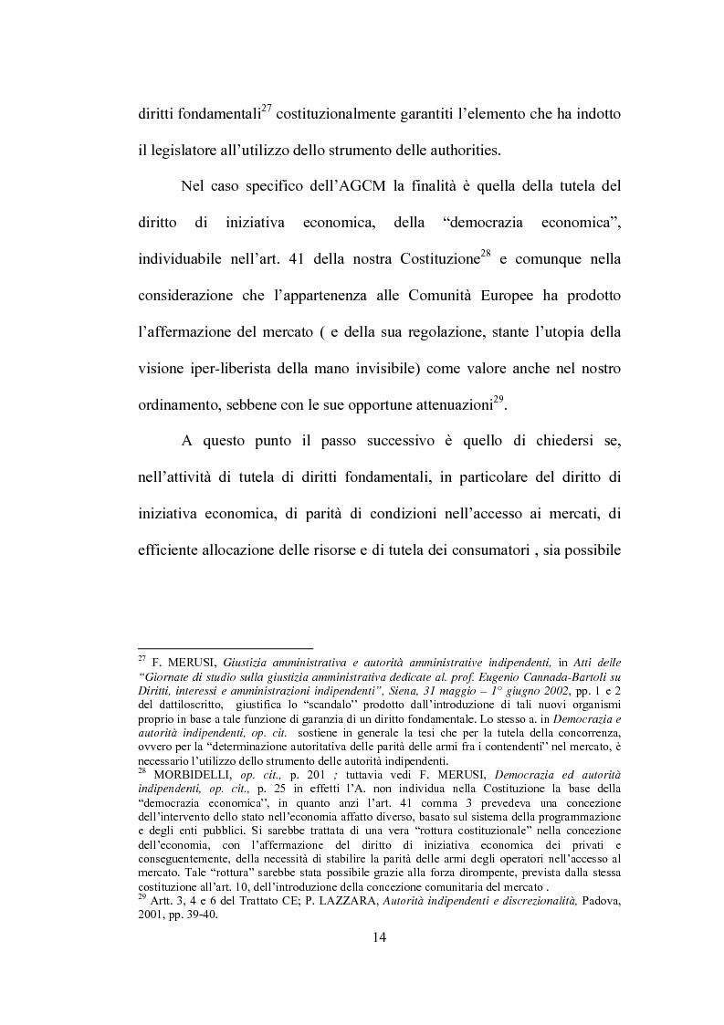 Anteprima della tesi: La partecipazione al procedimento in materia antitrust davanti all'Autorità Garante della Concorrenza e del Mercato, Pagina 11