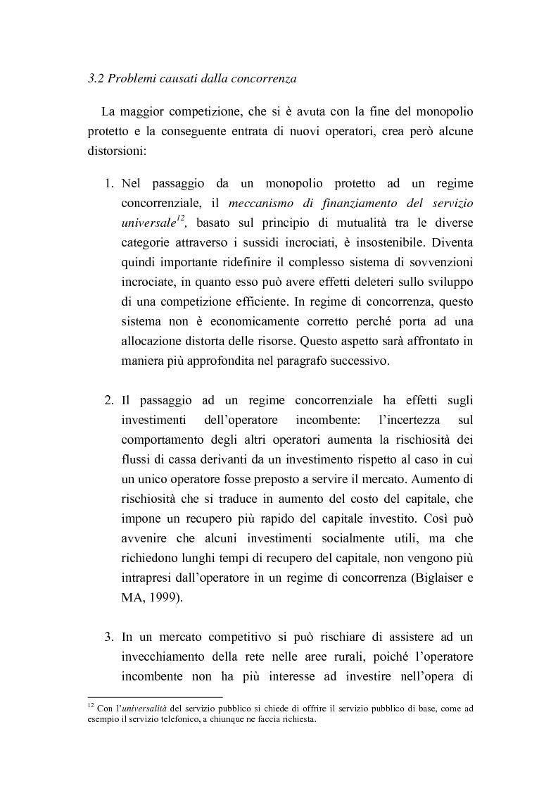 Anteprima della tesi: Liberalizzazione del mercato delle telecomunicazioni: evoluzione e andamento dei prezzi, Pagina 13
