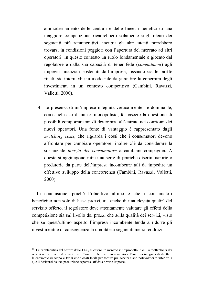 Anteprima della tesi: Liberalizzazione del mercato delle telecomunicazioni: evoluzione e andamento dei prezzi, Pagina 14