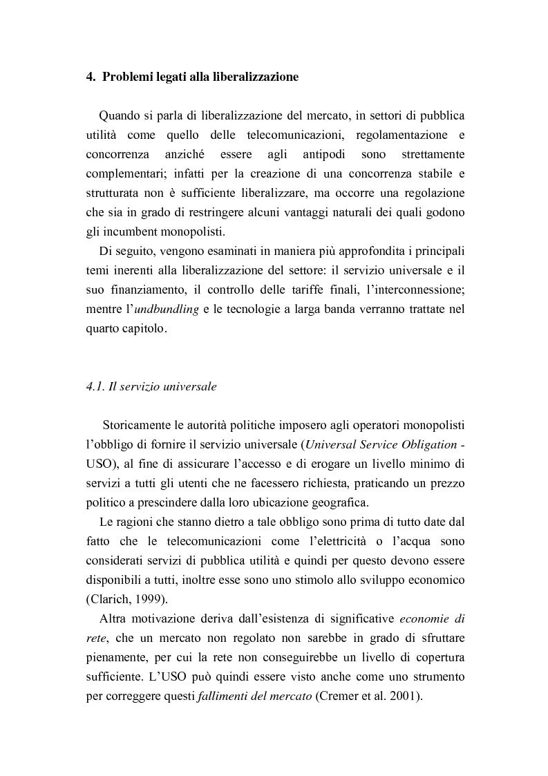 Anteprima della tesi: Liberalizzazione del mercato delle telecomunicazioni: evoluzione e andamento dei prezzi, Pagina 15