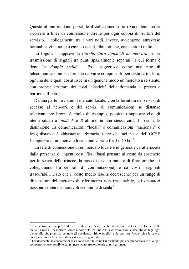 Anteprima della tesi: Liberalizzazione del mercato delle telecomunicazioni: evoluzione e andamento dei prezzi, Pagina 4