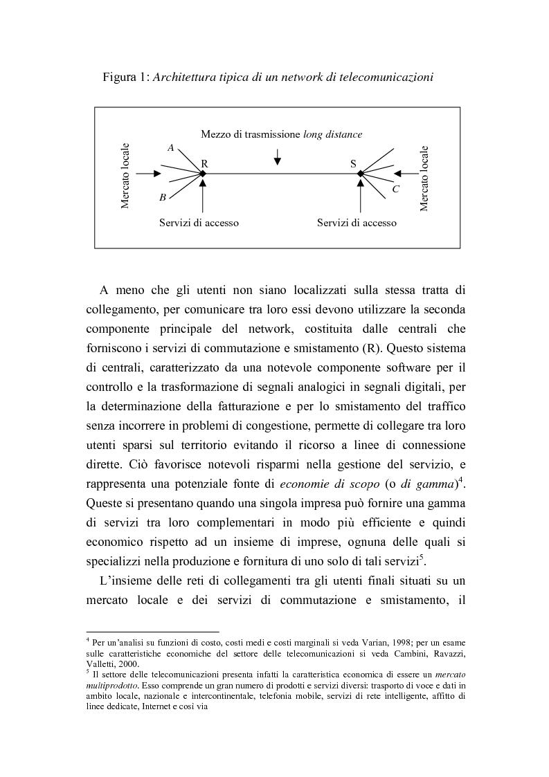 Anteprima della tesi: Liberalizzazione del mercato delle telecomunicazioni: evoluzione e andamento dei prezzi, Pagina 5