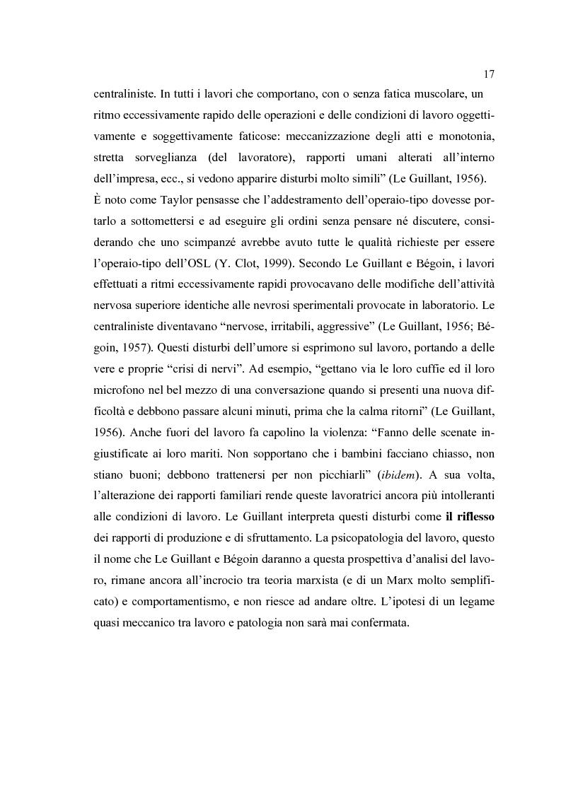 Anteprima della tesi: Analisi psicodinamica delle situazioni di lavoro: uno studio di caso presso un ospedale della provincia di Bergamo, Pagina 13