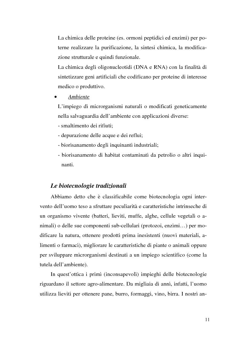 Anteprima della tesi: Il contributo delle biotecnologie avanzate in agricoltura: qualità, sicurezza e mercato degli Organismi Geneticamente Modificati, Pagina 6
