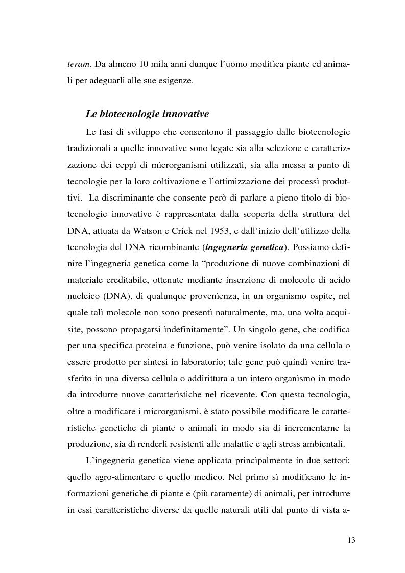 Anteprima della tesi: Il contributo delle biotecnologie avanzate in agricoltura: qualità, sicurezza e mercato degli Organismi Geneticamente Modificati, Pagina 8