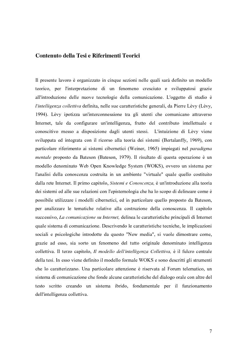 Anteprima della tesi: WOKS, un Modello per L'intelligenza Collettiva, Pagina 3