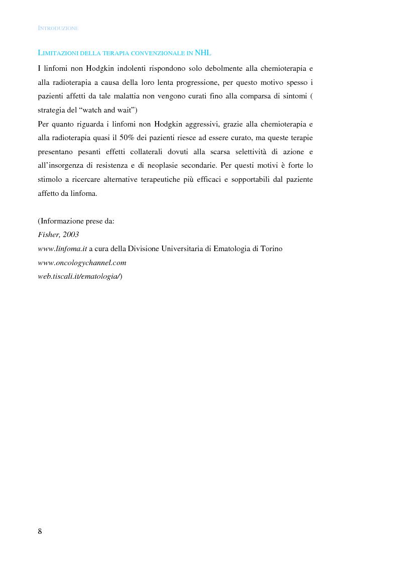 Anteprima della tesi: Distruzione selettiva di cellule linfomatose CD22+ mediante targeting molecolare della saporina-S6, Pagina 10