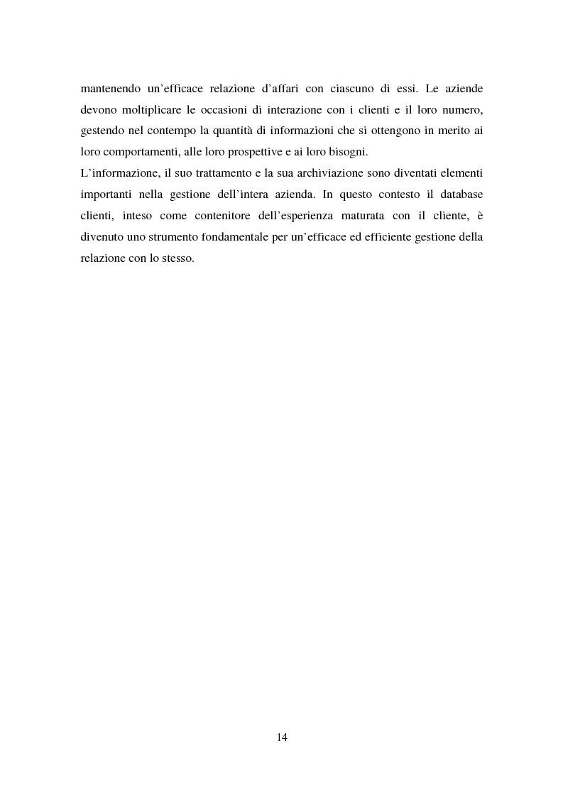 Anteprima della tesi: Le nuove tecniche e tecnologie in azienda: L'utilizzo della business intelligence per il customer relationship management, Pagina 11