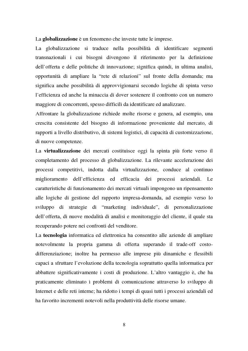 Anteprima della tesi: Le nuove tecniche e tecnologie in azienda: L'utilizzo della business intelligence per il customer relationship management, Pagina 5
