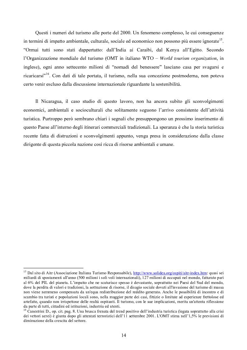 Anteprima della tesi: Turismo responsabile: il Nicaragua e la Regione Centroamericana, Pagina 12