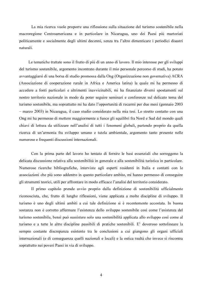 Anteprima della tesi: Turismo responsabile: il Nicaragua e la Regione Centroamericana, Pagina 2