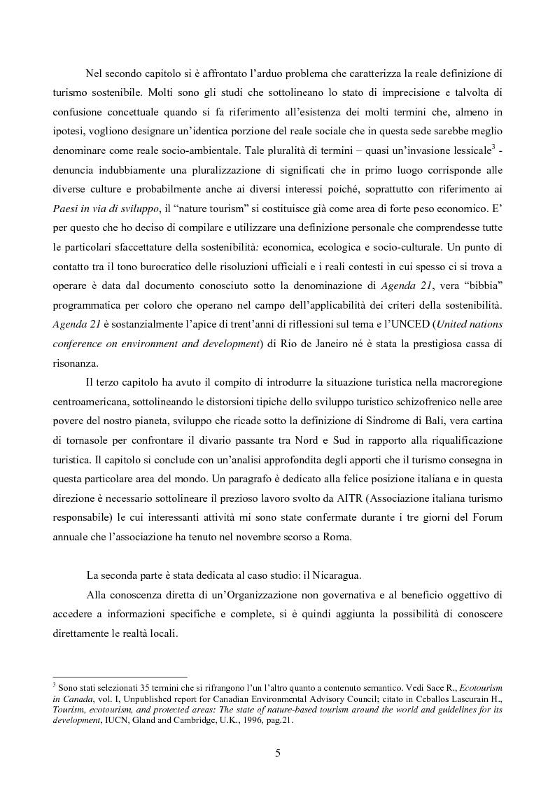 Anteprima della tesi: Turismo responsabile: il Nicaragua e la Regione Centroamericana, Pagina 3