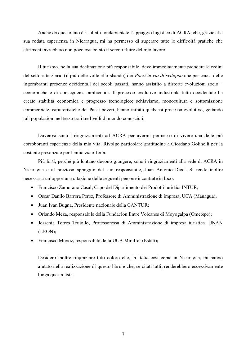 Anteprima della tesi: Turismo responsabile: il Nicaragua e la Regione Centroamericana, Pagina 5