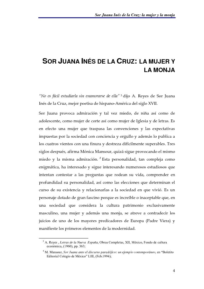 Anteprima della tesi: El sueño nocturno de Sor Juana en la noche ejemplar, Pagina 4