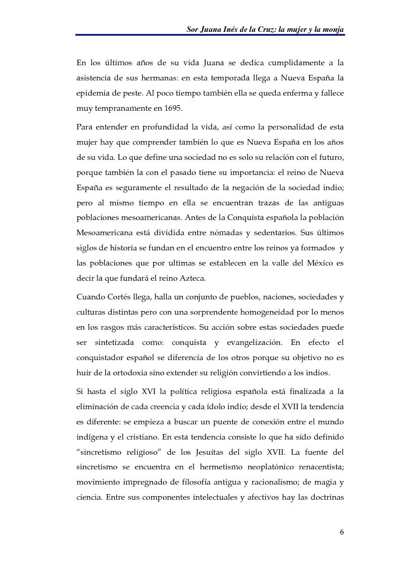 Anteprima della tesi: El sueño nocturno de Sor Juana en la noche ejemplar, Pagina 6