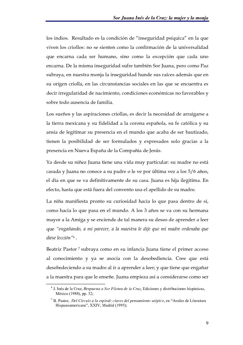 Anteprima della tesi: El sueño nocturno de Sor Juana en la noche ejemplar, Pagina 9