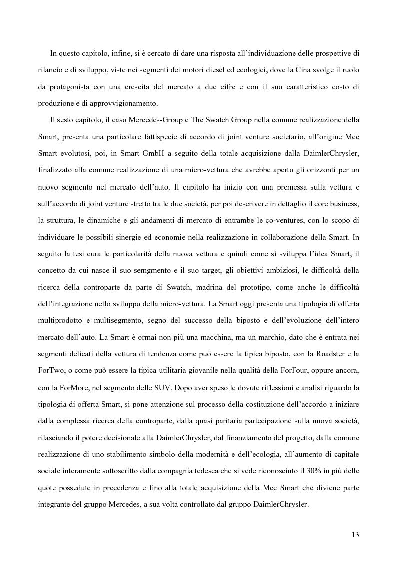 Anteprima della tesi: Le alleanze strategiche nel settore automobilistico, Pagina 7