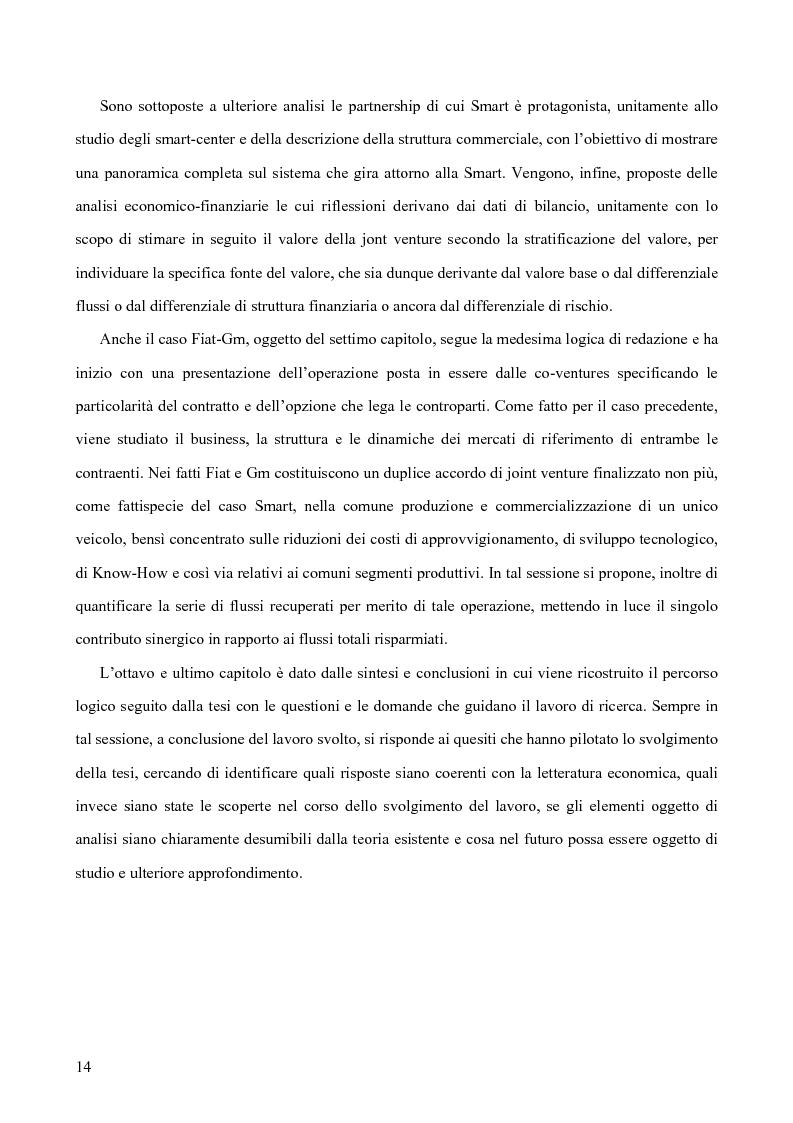 Anteprima della tesi: Le alleanze strategiche nel settore automobilistico, Pagina 8