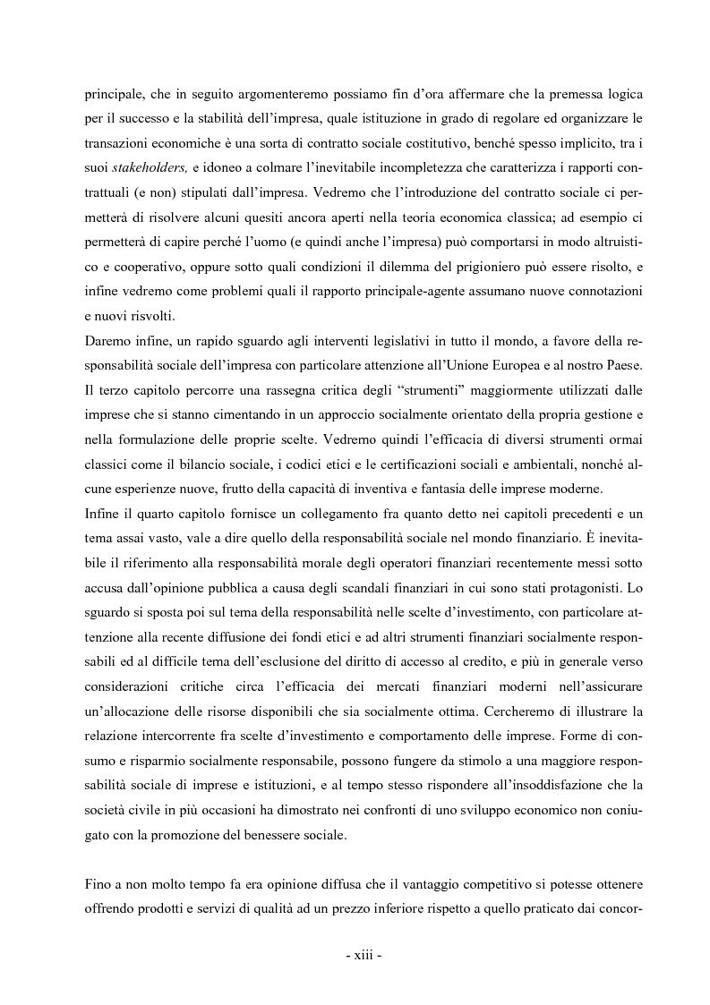 Anteprima della tesi: La responsabilità sociale dell'impresa: la fiducia come fattore di successo competitivo, Pagina 3