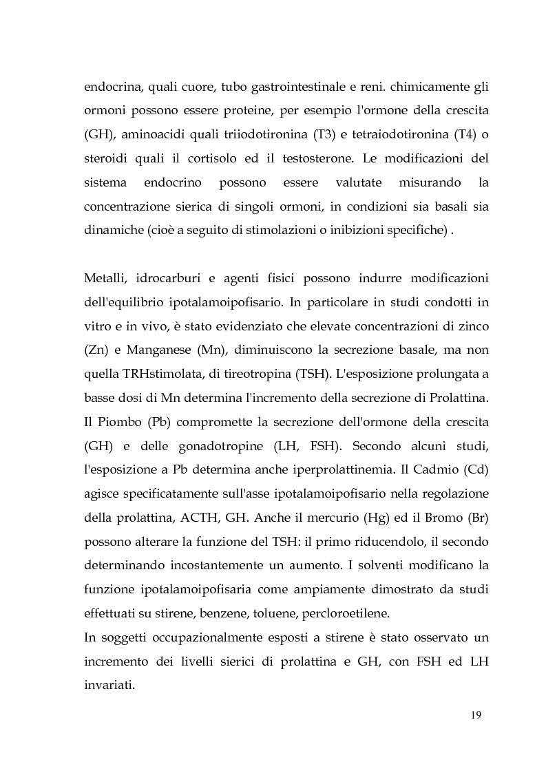 Anteprima della tesi: Endocrine Disruptors: Fertilità maschile e Metalli pesanti, Pagina 15